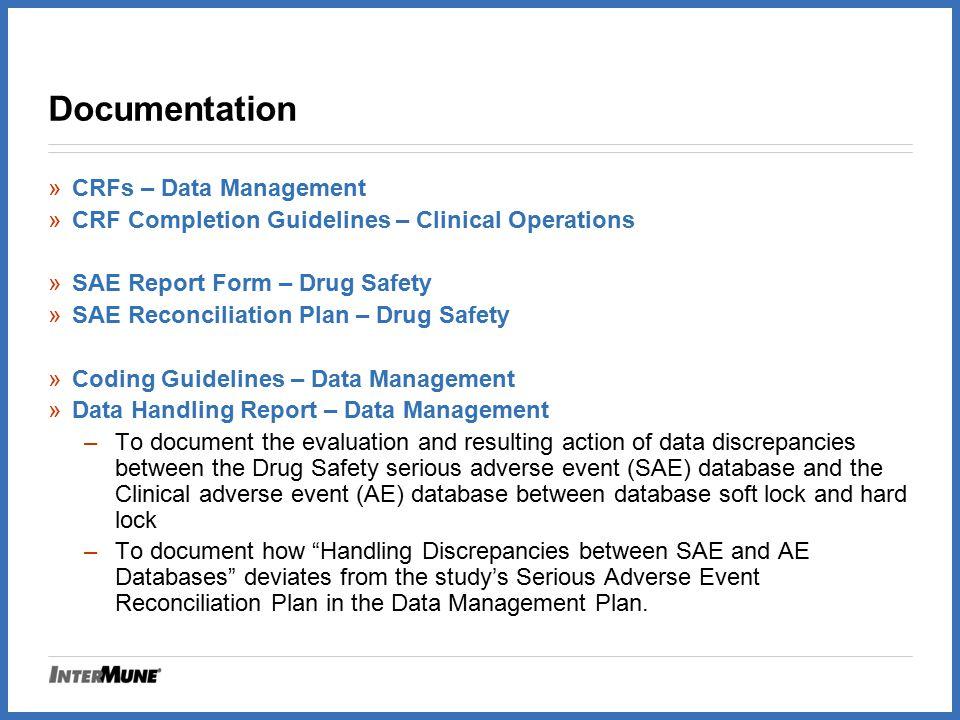 Documentation CRFs – Data Management