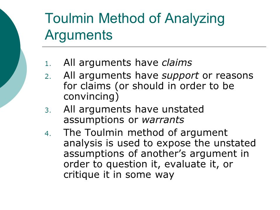 discuss and analyse the arguments for Often the terms analysis and argument are used synonymously, but they  ex amples are users on a discussion board, professors of the same.