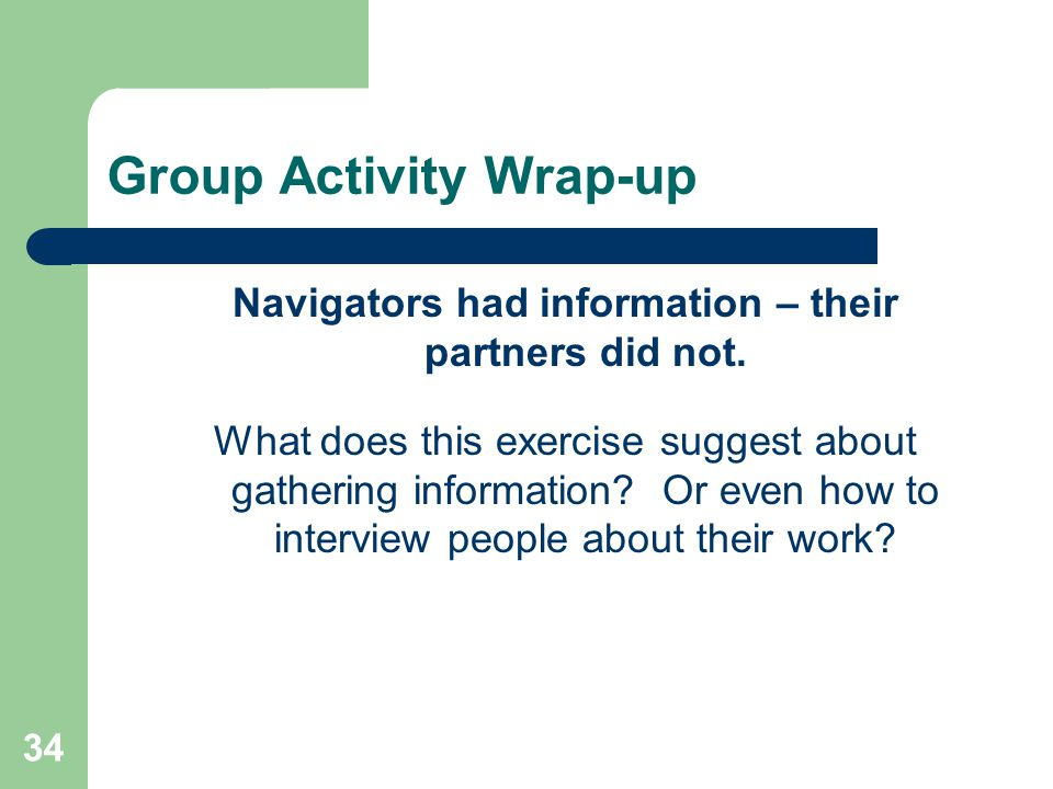 Group Activity Wrap-up