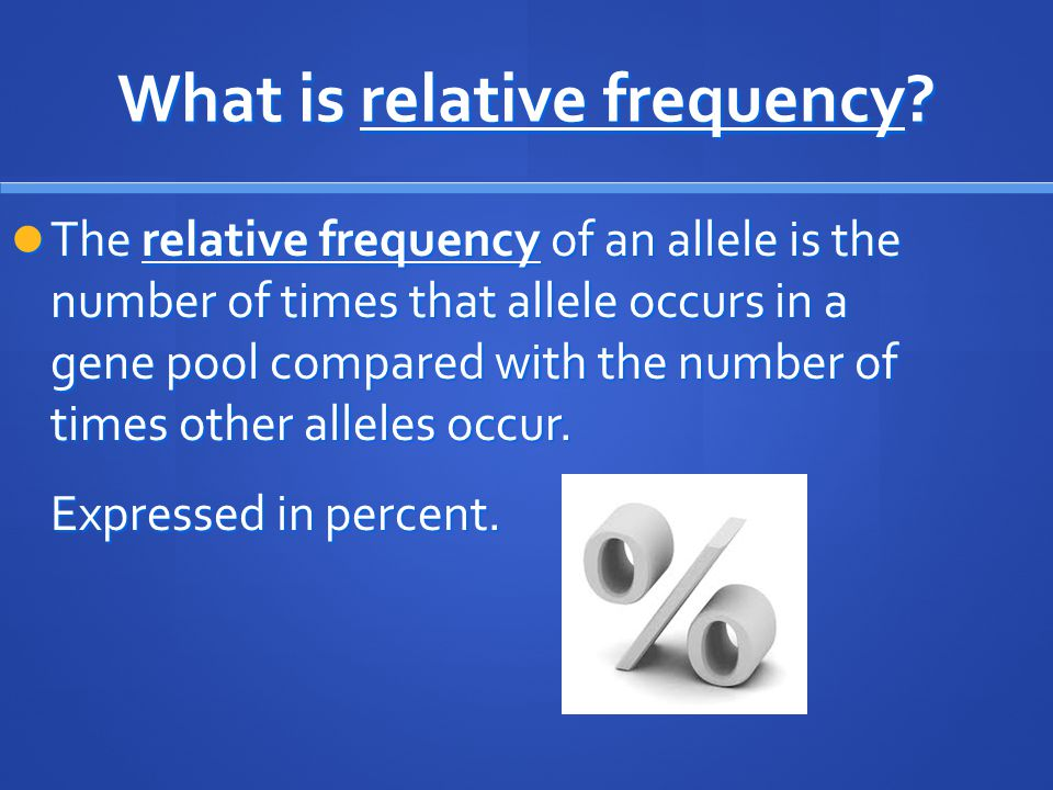What is relative frequency