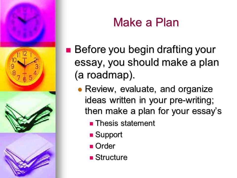 pre writing an essay