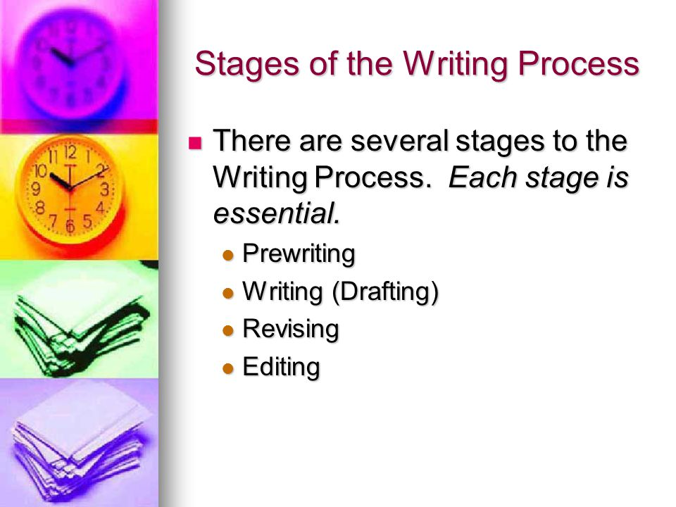 stages in the writing process The recursive, rather than linear, nature of the writing process helps writers produce stronger, more focused work because it highlights connections and allows for movement between research and the phases of writing writing doesn't have to be a one way path.