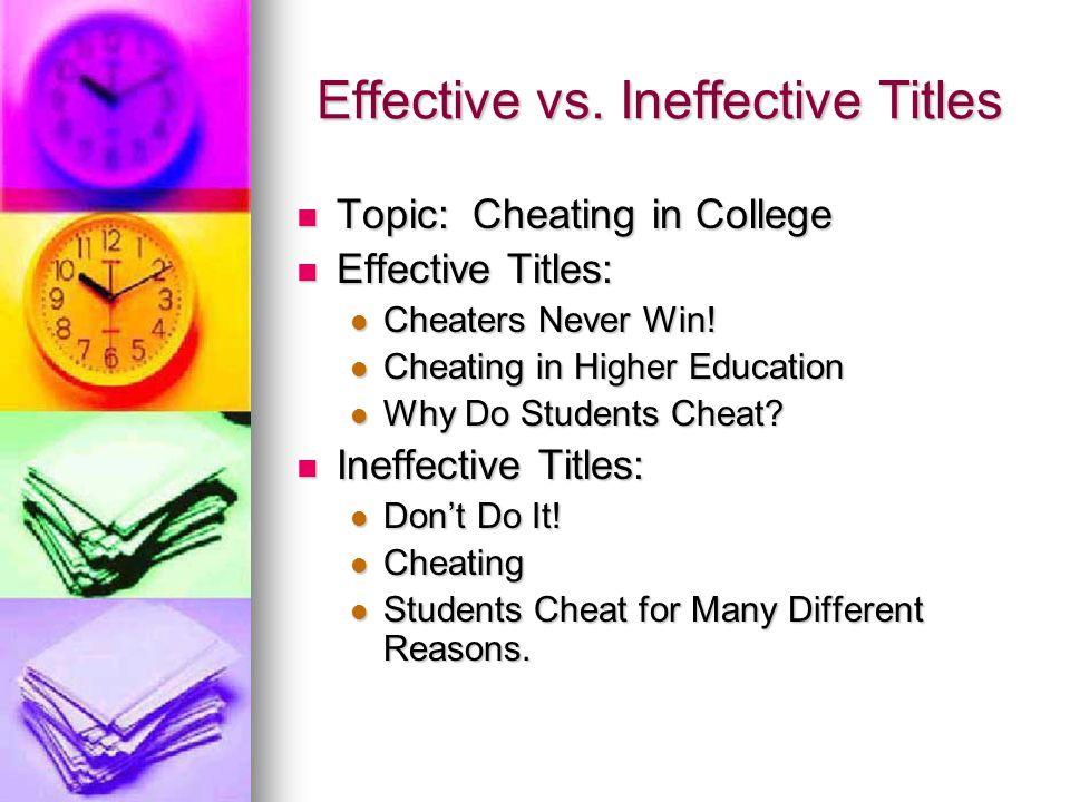Effective vs. Ineffective Titles