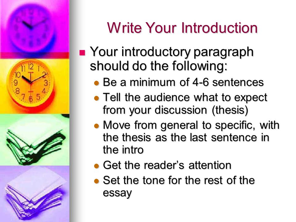 Write Your Introduction