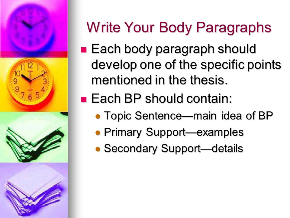 Write Your Body Paragraphs
