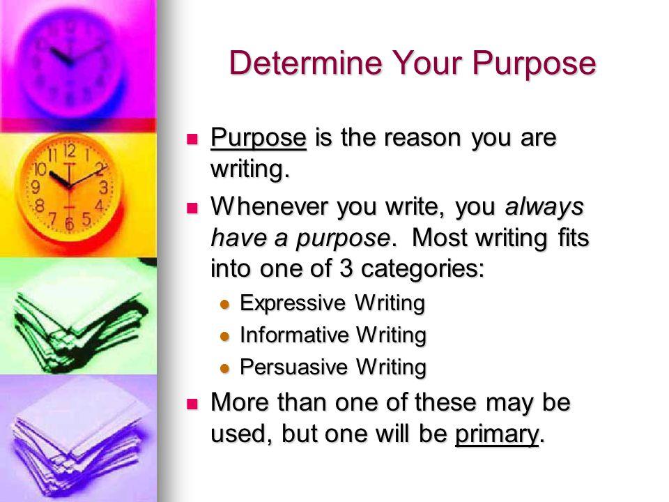 Determine Your Purpose