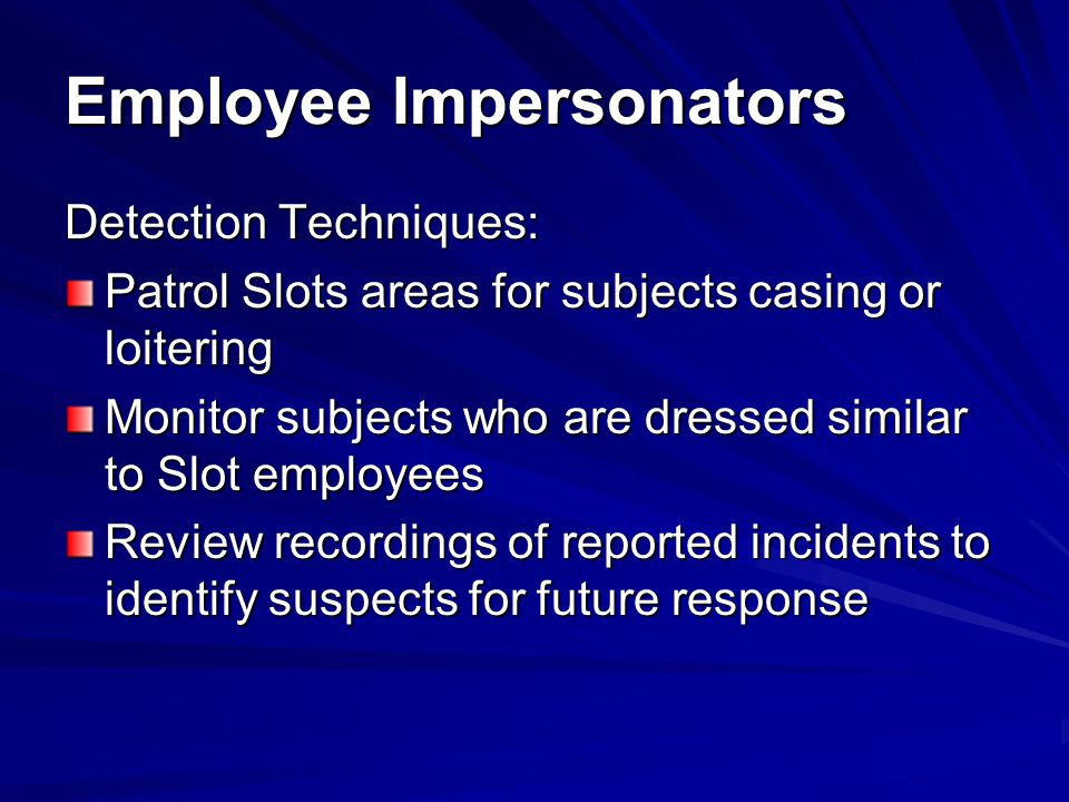 Employee Impersonators