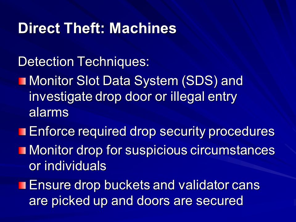 Direct Theft: Machines