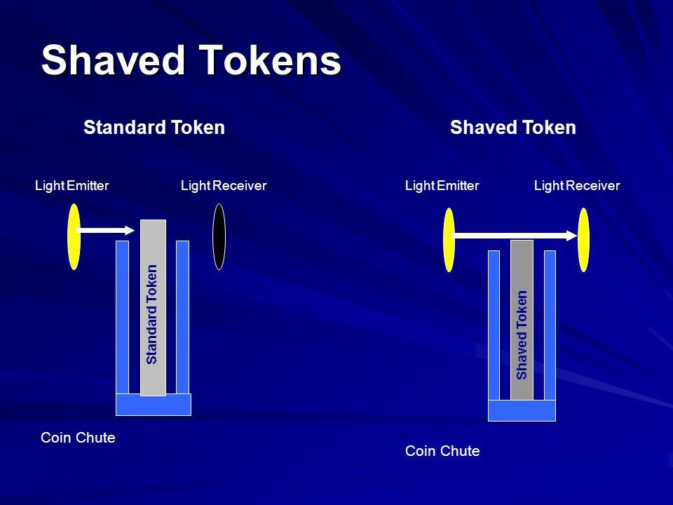 Shaved Tokens Coin Chute Light Emitter Light Receiver Standard Token