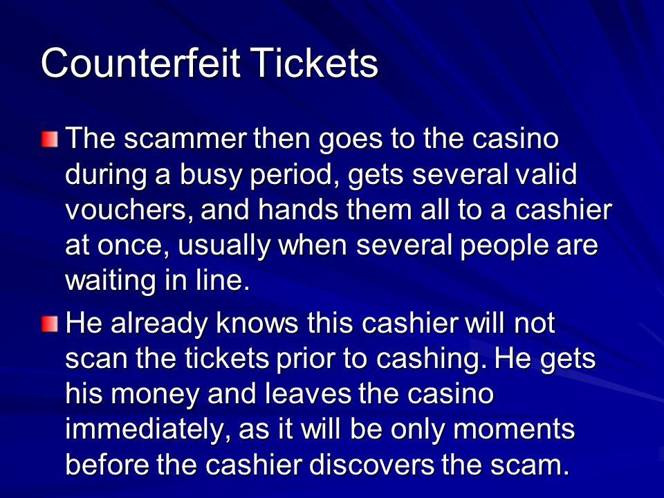 Counterfeit Tickets