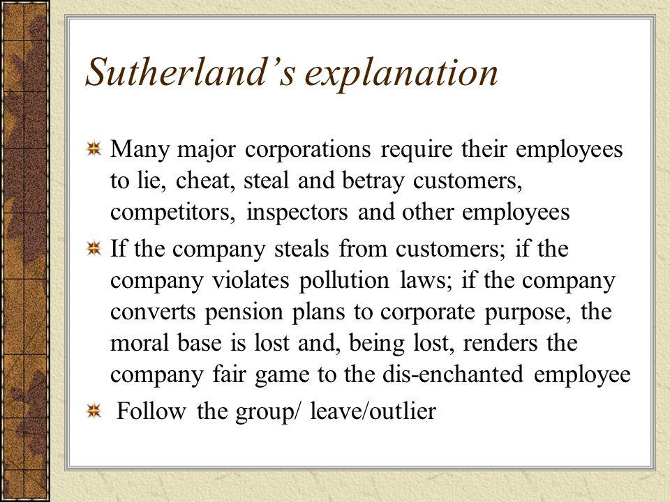 Sutherland's explanation