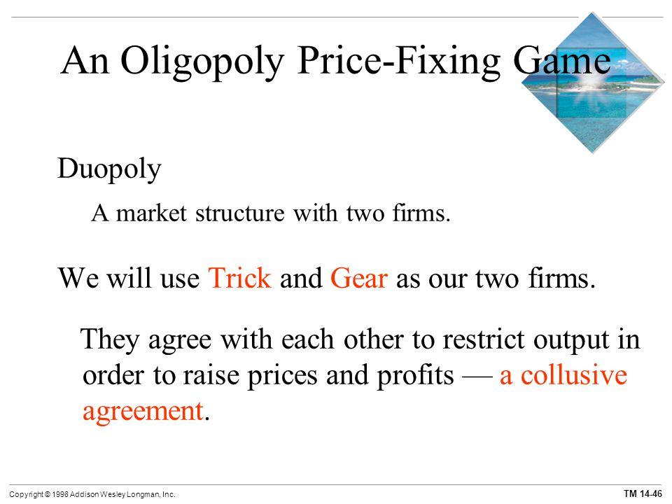 An Oligopoly Price-Fixing Game