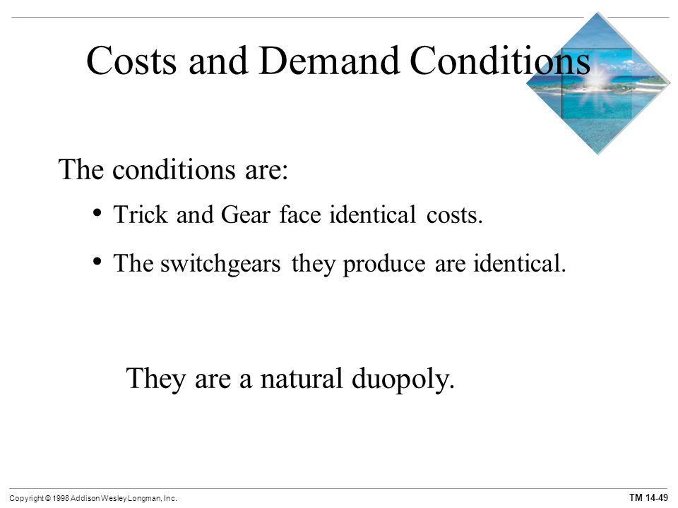 Costs and Demand Conditions