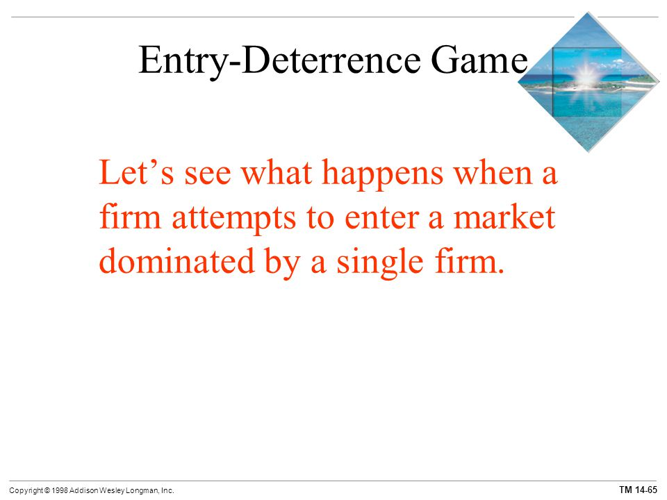 Entry-Deterrence Game
