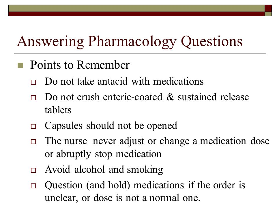 Answering Pharmacology Questions