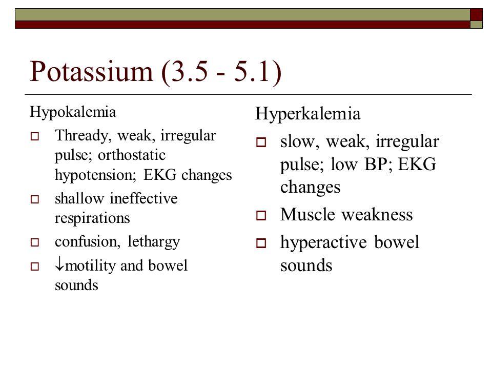 Potassium (3.5 - 5.1) Hyperkalemia