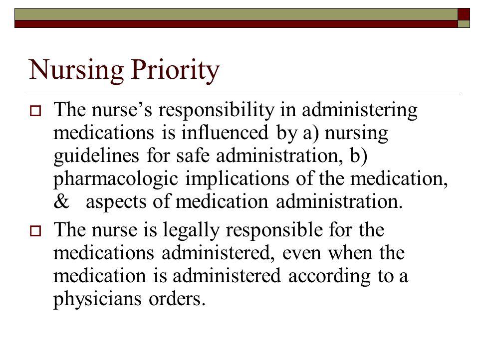 Nursing Priority