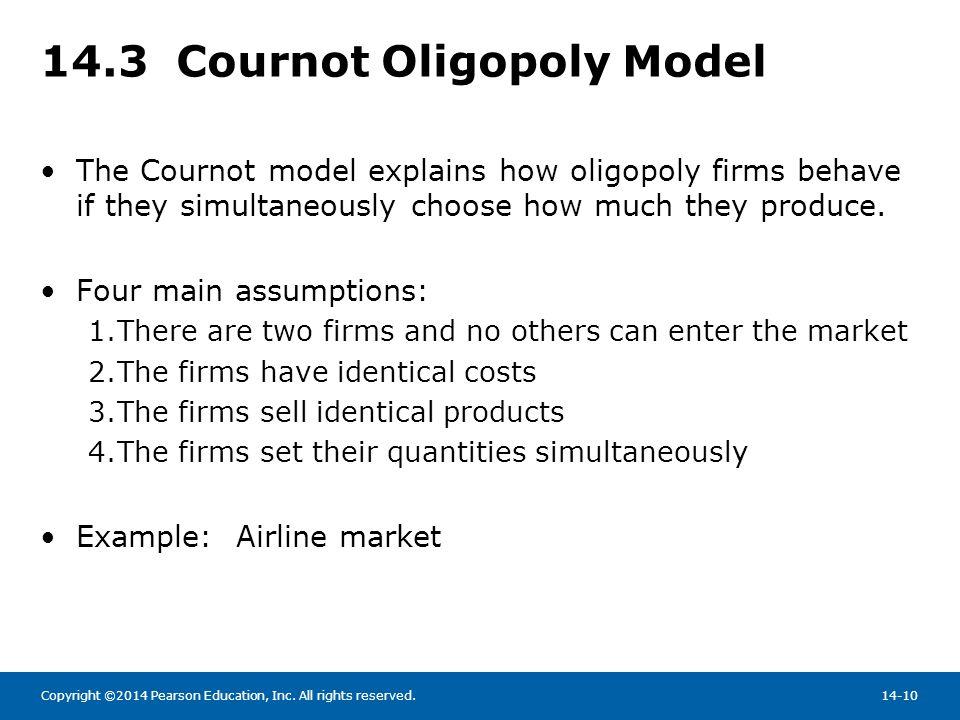 14.3 Cournot Oligopoly Model
