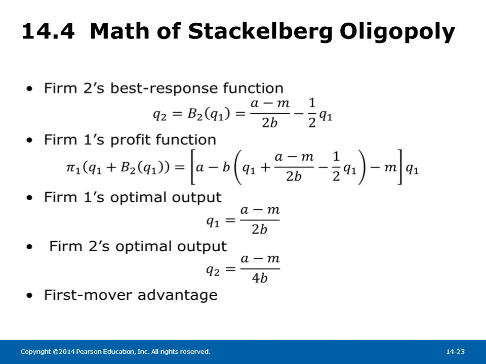 14.4 Math of Stackelberg Oligopoly