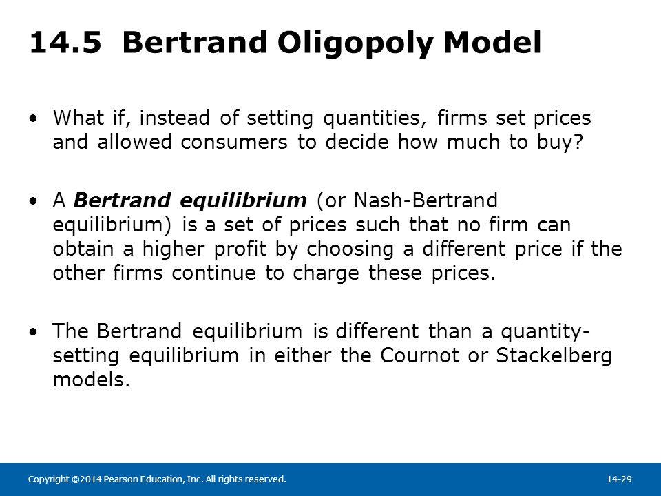 14.5 Bertrand Oligopoly Model