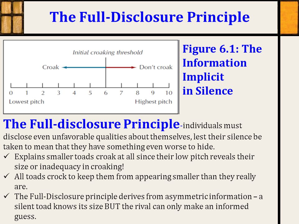 The Full-Disclosure Principle