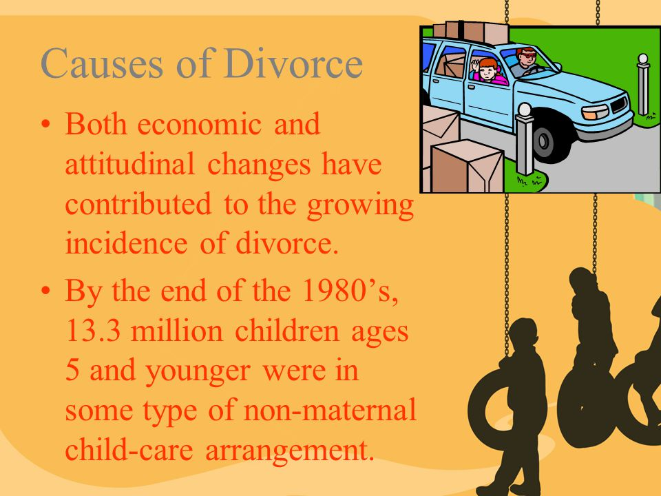 Causes of Divorce Both economic and attitudinal changes have contributed to the growing incidence of divorce.