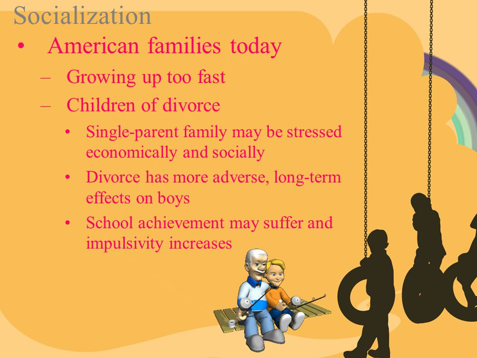 Socialization American families today Growing up too fast