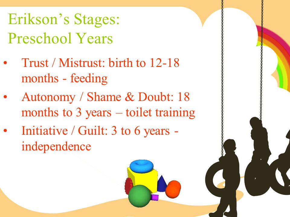 Erikson's Stages: Preschool Years