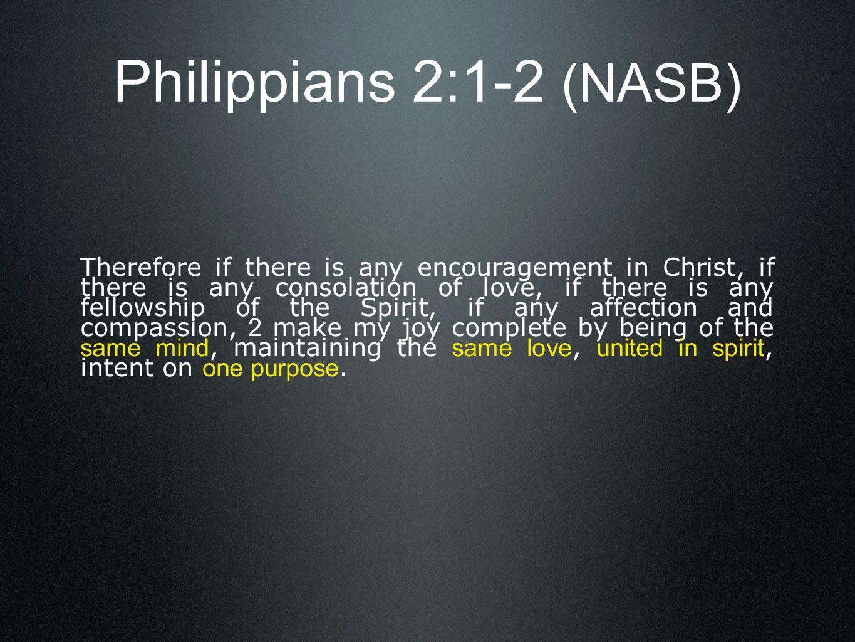 Philippians 2:1-2 (NASB)