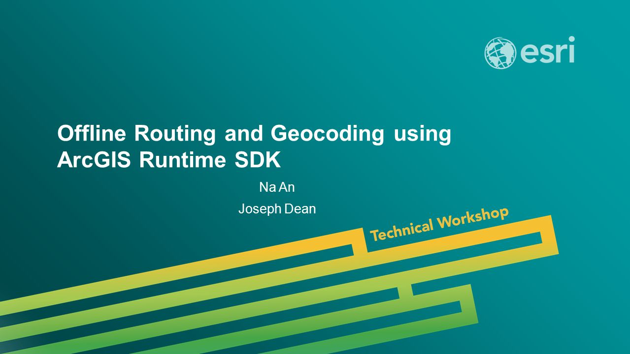 Offline Routing and Geocoding using ArcGIS Runtime SDK