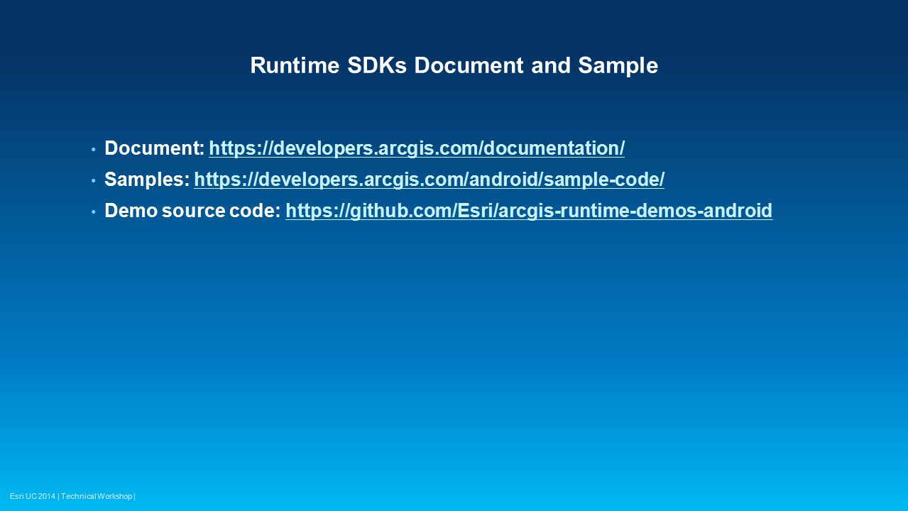 Runtime SDKs Document and Sample