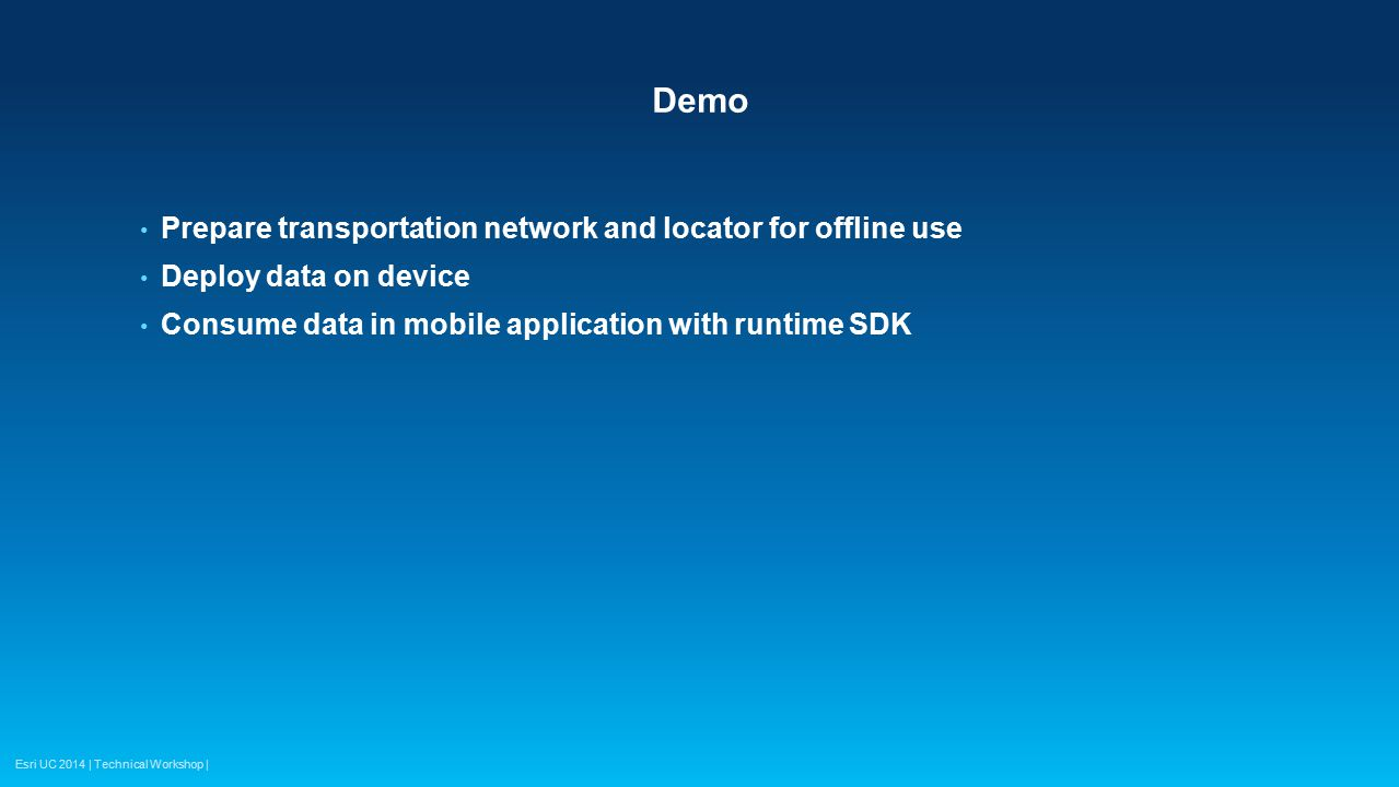 Demo Prepare transportation network and locator for offline use