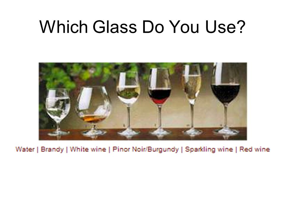 Which Glass Do You Use