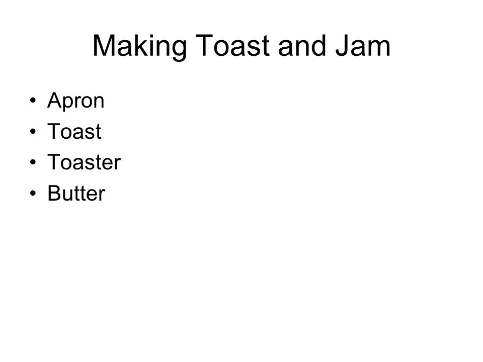 Making Toast and Jam Apron Toast Toaster Butter
