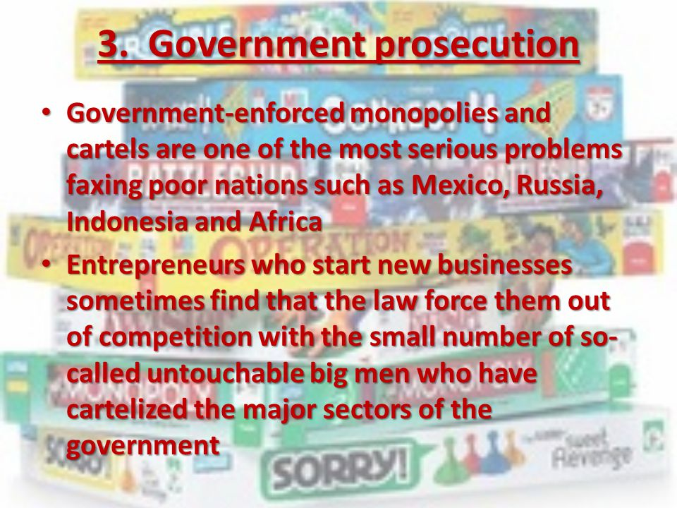3. Government prosecution
