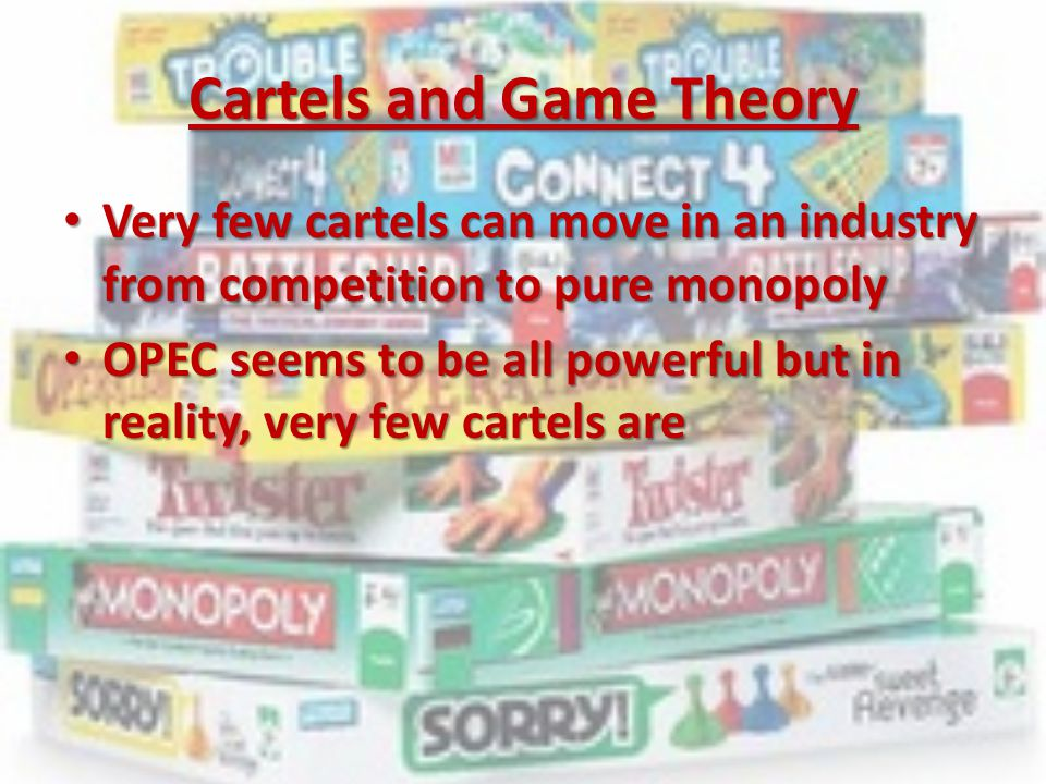 Cartels and Game Theory