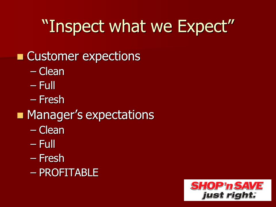 Inspect what we Expect