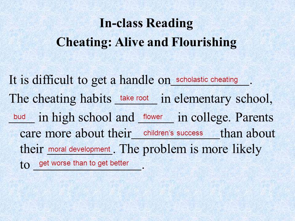 Cheating: Alive and Flourishing
