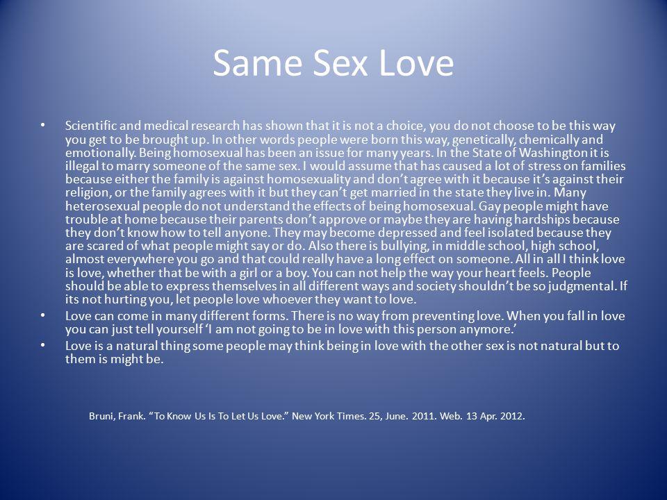 Same Sex Love
