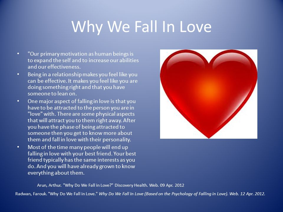 how do we fall in love psychology relationship