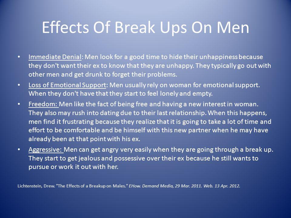 Effects Of Break Ups On Men