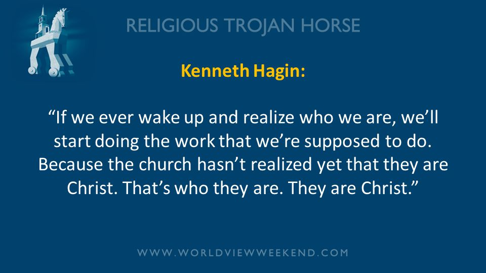 Kenneth Hagin: If we ever wake up and realize who we are, we'll start doing the work that we're supposed to do.
