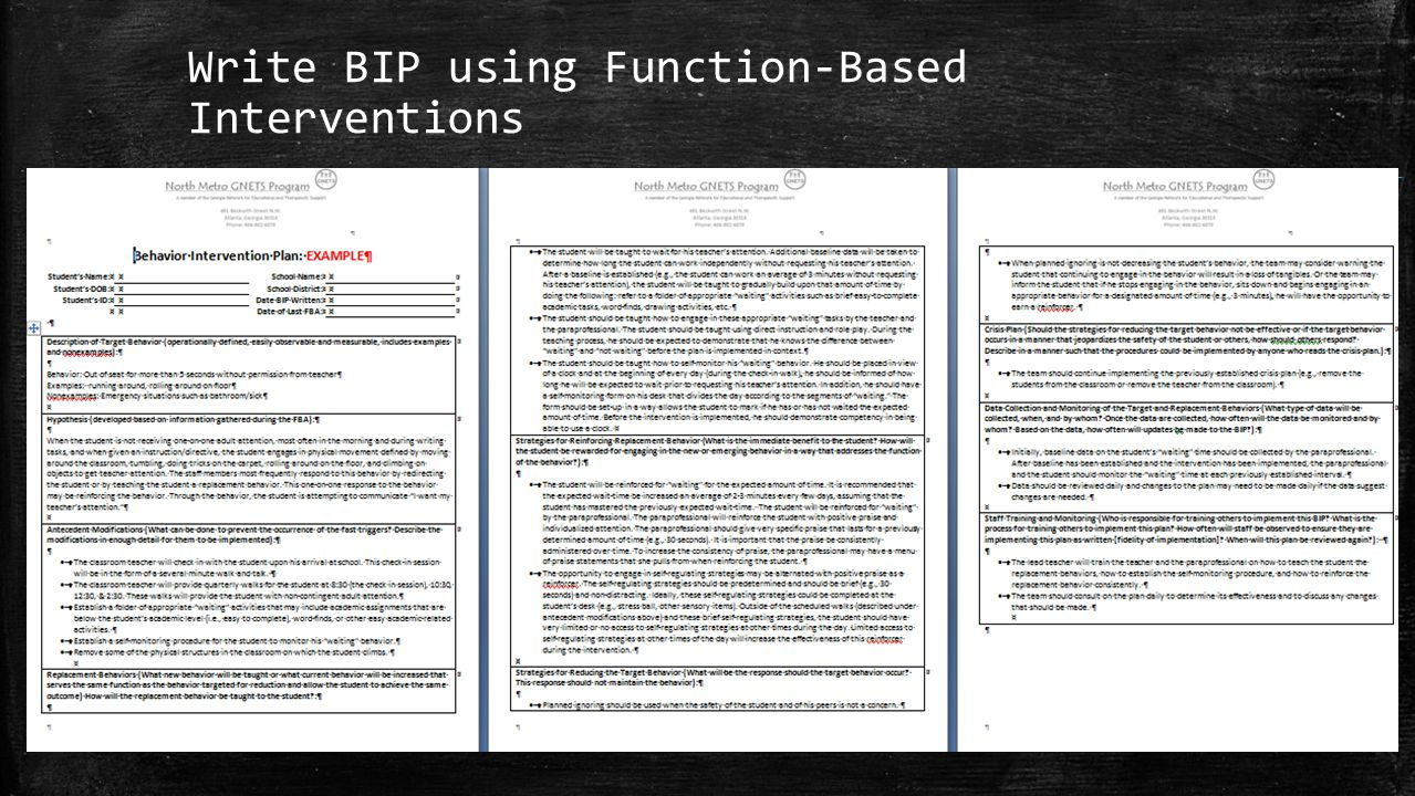 Write BIP using Function-Based Interventions