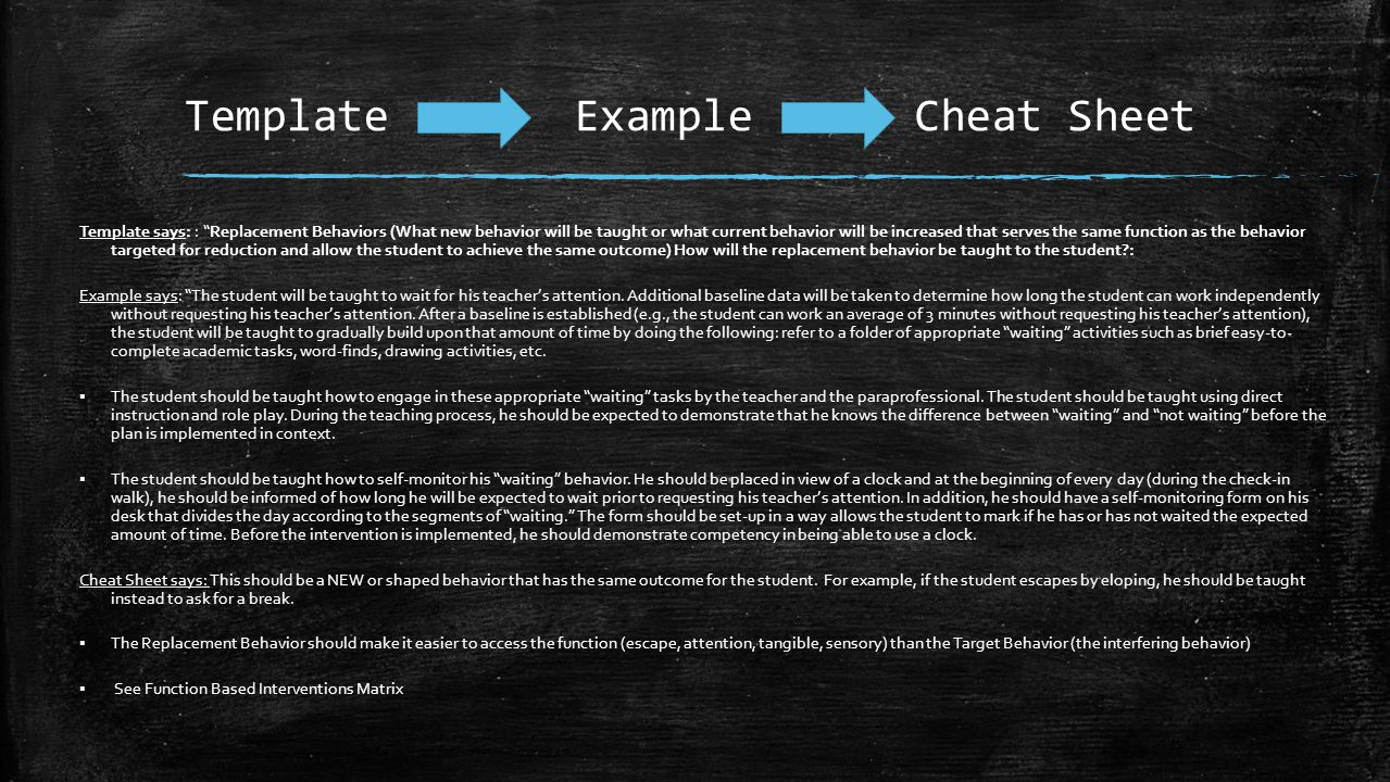Template Example Cheat Sheet
