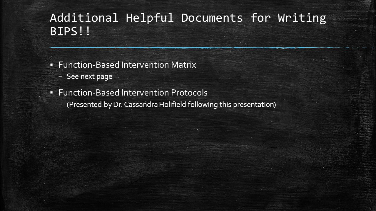 Additional Helpful Documents for Writing BIPS!!