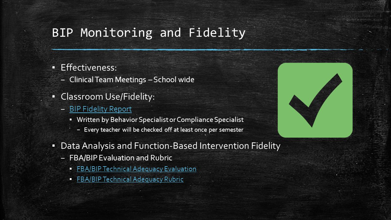 BIP Monitoring and Fidelity