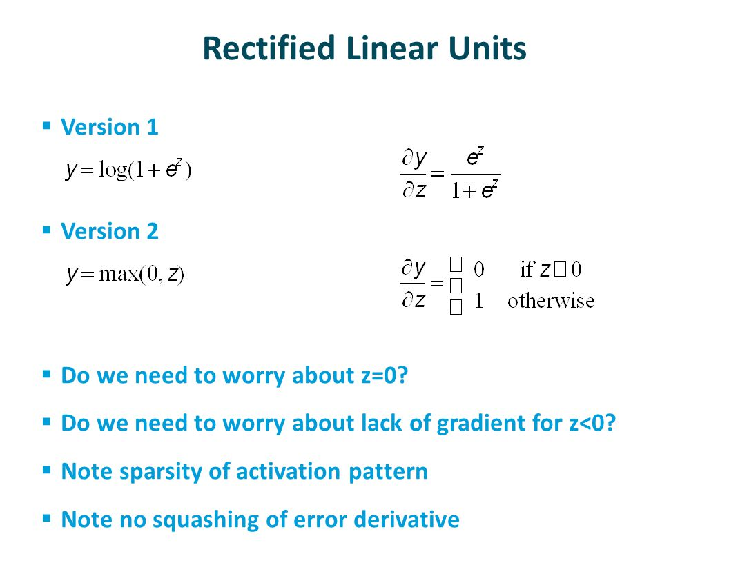 Rectified Linear Units