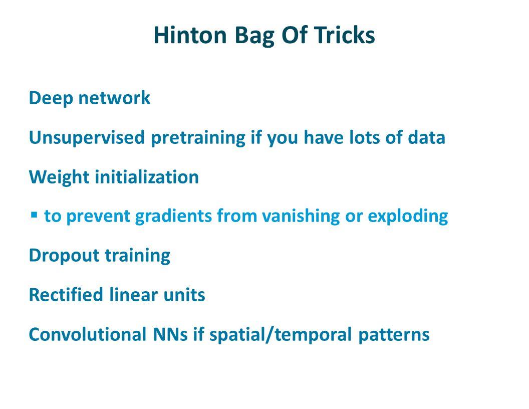 Hinton Bag Of Tricks Deep network