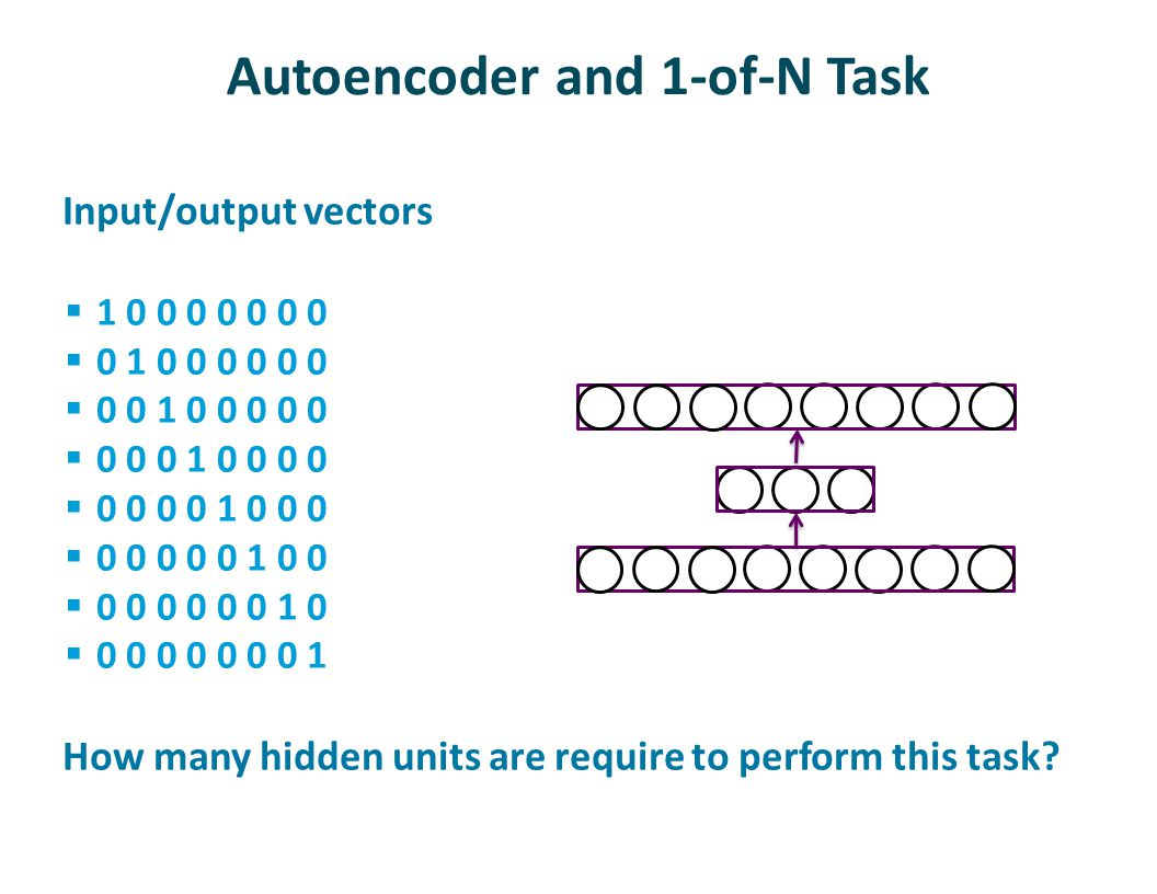 Autoencoder and 1-of-N Task