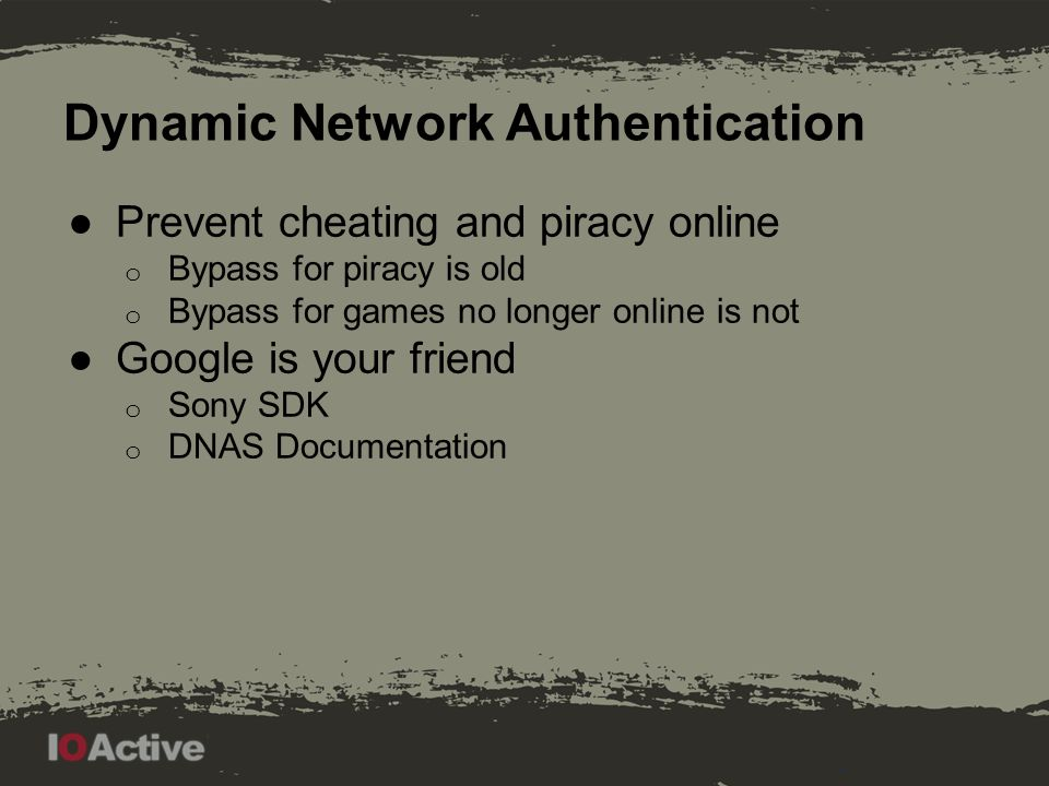 Dynamic Network Authentication
